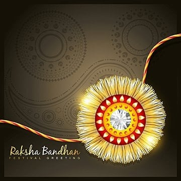 golden rakhi, Raksha, Rakshabandhan, Rakhi PNG and Vector