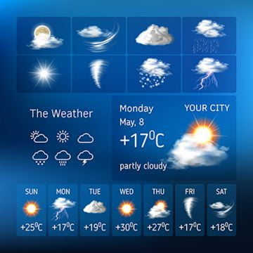 Weather Forecast PNG Images | Vector and PSD Files | Free