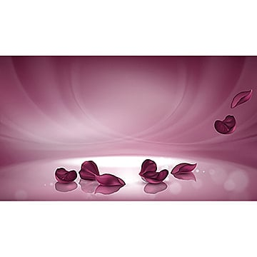 Vector 3D pink background with burgundy rose petals, Advertisement, Luxury, 3d PNG and Vector