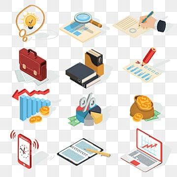 reihe von vector isometrischen business iconszeichen cash isometrische erfolg objekt konzept design vektor website die unternehmen