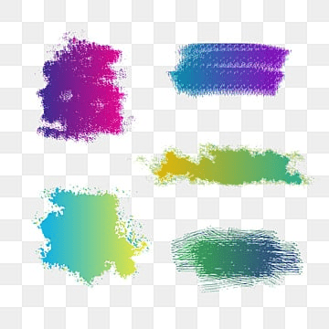 colorful watercolor brush stroke vector, Colorful, Watercolor, Brush PNG and Vector