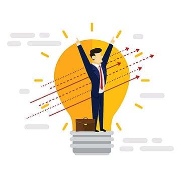 Creative Business Idea Businessman Illustration, Business, Solution, Illustration PNG and Vector