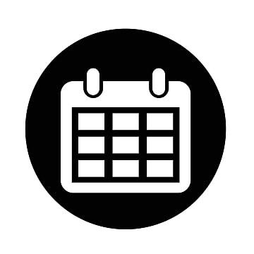 Calendar logo. Icon png vector psd