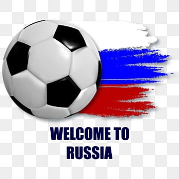 football  illustration with a ball on the background of the  of russia, Match, Ball, World PNG and Vector