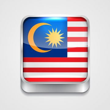 flag of malaysia, 3d, Button, Badge PNG and Vector