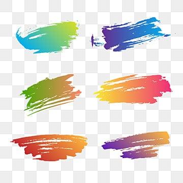 чернила кисти красочные Векторная коллекция, чернила, кисти, Инсульт PNG ресурс рисунок и векторное изображение