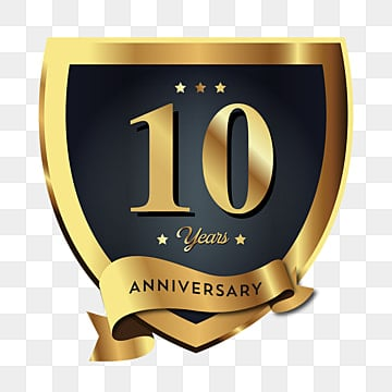 10th Anniversary Colored Design, Happy Holiday Festive Celebration..  Royalty Free Cliparts, Vectors, And Stock Illustration. Image 88704371.