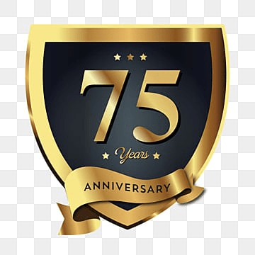 75th Anniversary Badge Logo Icon Anniversary 75
