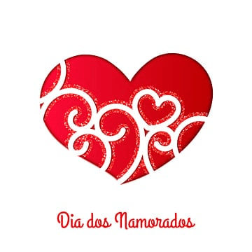Dia dos Namorados greeting card with heart, Valentines Day, Heart Vector, Card PNG and Vector