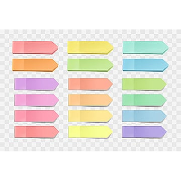 vector bright sticky notes  pack of stickers with  on a t, Post, Multicolor, Paper PNG and Vector