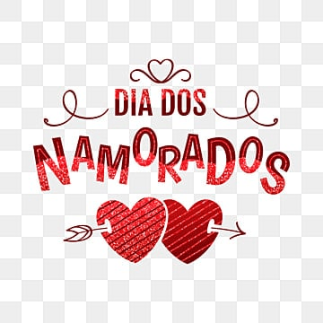 Dia dos Namorados greeting card with shiny text and red hearts, Happy, Holiday, Card PNG and Vector