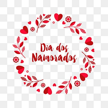 Dia dos Namorados greeting card with a wreath of branches and hearts, Happy, Holiday, Card PNG and Vector