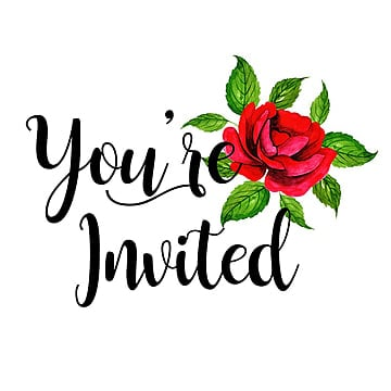 beautiful background of the word you are invited with watercolor floral watercolor
