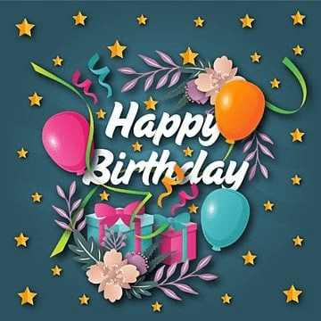 cute happy birthday greeting card and banner illustration, Birthday, Party, Card PNG and Vector
