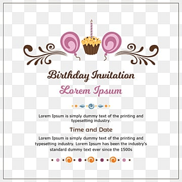 Birthday Invitation Card Png Images Vector And Psd Files