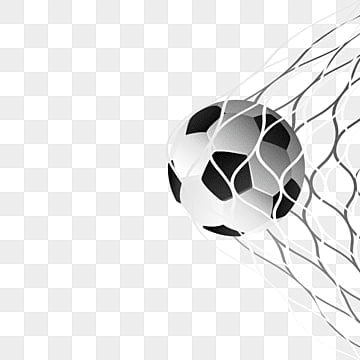 soccer ball in goal net vector, Soccer, Football, Ball PNG and Vector