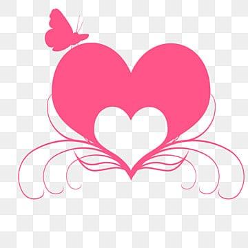 Beautiful Pink Smoke Heart Shaped Elements, Pink, Smoke
