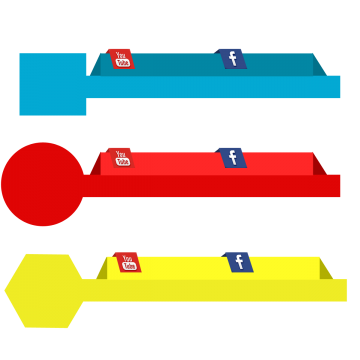 Banner with social media icon for video, Social Media, Video, Shape PNG and PSD