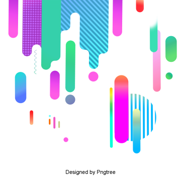 Bright color geometry flat gradient Line