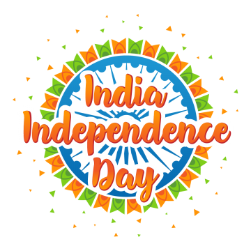 independence day of india with colorful flags, August, Holiday, Freedom PNG and Vector