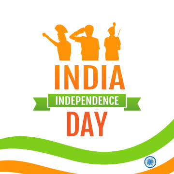 holiday poster with military silhouettes and flag on indias independence day, August, Holiday, Freedom PNG and PSD