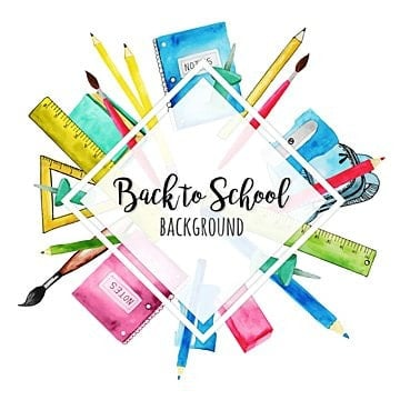 watercolor back to school background, School, Back, Chalk PNG and Vector