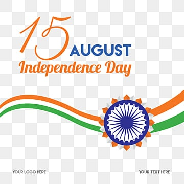 bright indian independence day typography with chakra, Celebration, Indian, Tricolor PNG and Vector