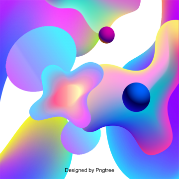 Abstract colorful geometric gradient fluid technology pattern, Geometry, Gradients, Fluids PNG and PSD