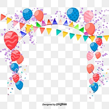 Balloon Clipart Colored Ribbon PNG And PSD