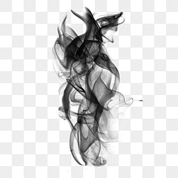 black smoke on a white background, Smoke, Ink, Fog PNG and PSD