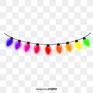 New Year Holiday Lantern String Bright PNG And Vector