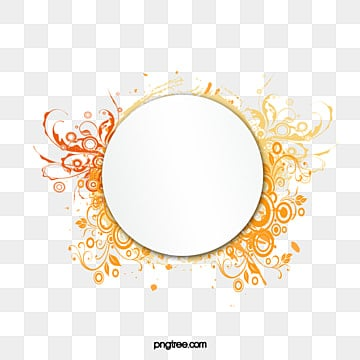 Fashion Pattern Circular Border, Fashion, Pattern, Round PNG And Vector