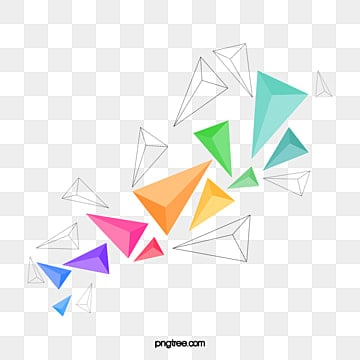 three dimensional geometric triangle block, Geometry, Triangle, Three-dimensional Blocks PNG and Vector