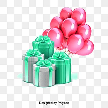 gift, Gift, Balloon, New Material PNG and PSD