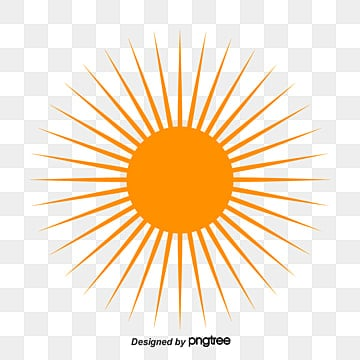 Sun rays, Four Rays, Line PNG and Vector