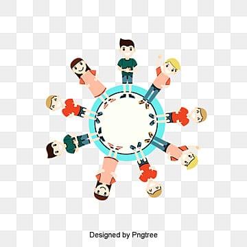 cartoon children holding hands celebratingDía  De  Los PNG Y PSD