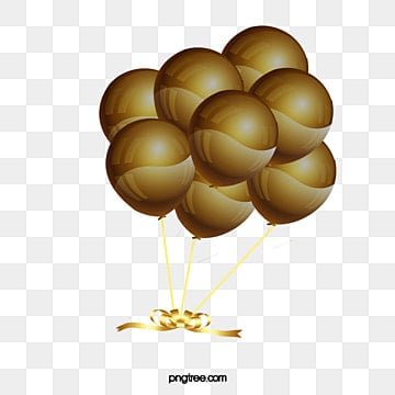 Gold Balloon PNG Images | Vector and PSD Files | Free