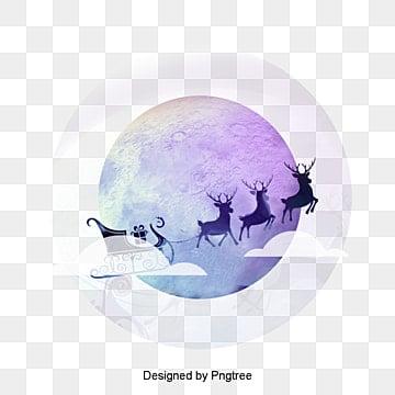 Рождество рождественский луна элементов материал прозрачный фон, рождество, рождество, машинаИзображение PNG