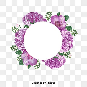 Decorative flower element, White Flower, Safflower, Wreath PNG and Vector