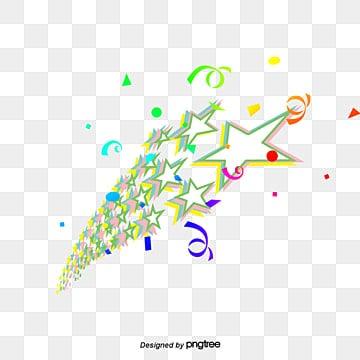 Ribbon stars, Colored Ribbon, Star, Posters Decorative PNG and PSD