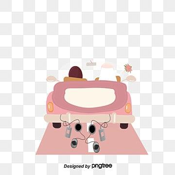 كارتون، سيارة الزفاف، السيارة القرنقلية, رسوم متحركة, زهري, سيارة الزفاف PNG و فيكتور