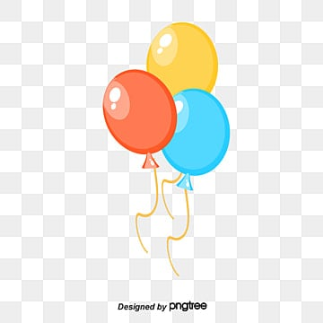 Balloon Festival Colorful Balloons Birthday PNG And PSD