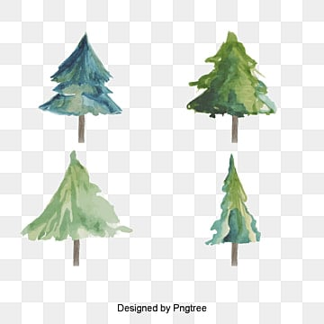 L'arbre de Noël de l'aquarelle, Aquarelle, Arbre De NoëlPNG et vecteur
