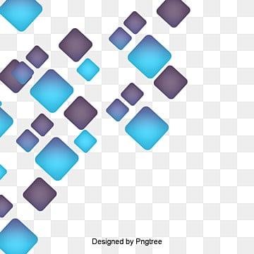 digital technology blue geometric squares gradient, Blue, Science And Technology, Digital PNG and PSD