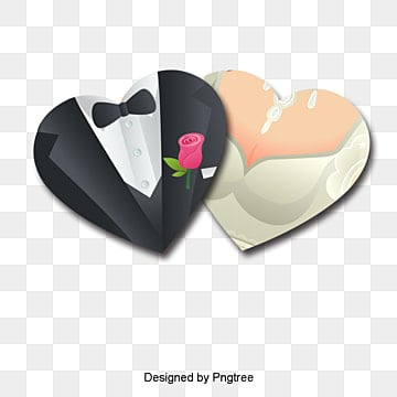 Heart-shaped,Bride and groom,Vector,Decorative background, Heart-shaped, Bride And Groom, Vector PNG and Vector