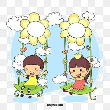 Take the kids swing leaves, Swing, Child, Children's World PNG and Vector