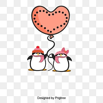 penguin, Penguin, Red, Valentine's Day PNG and Vector