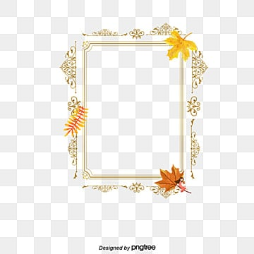 Autumn Leaves Border Free PNG and PSD