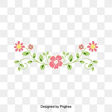 Floral Border Design Graphic Flowers PNG And Vector