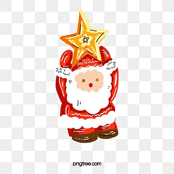 Pintado a mano de Santa Claus, Pintado A Mano, Navidad, Personas De Edad PNG y PSD
